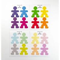 Flockmen - Stickerset (kleur)