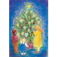Om de kerstboom