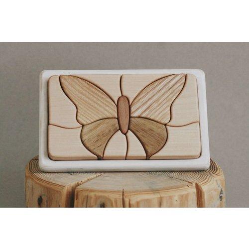 Tateplota Houten puzzel 'Vlinder'