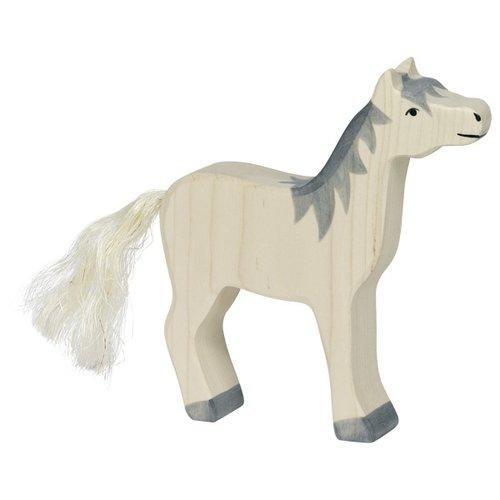 Holztiger Holztiger - Paard, hoofd hoog, grijze manen