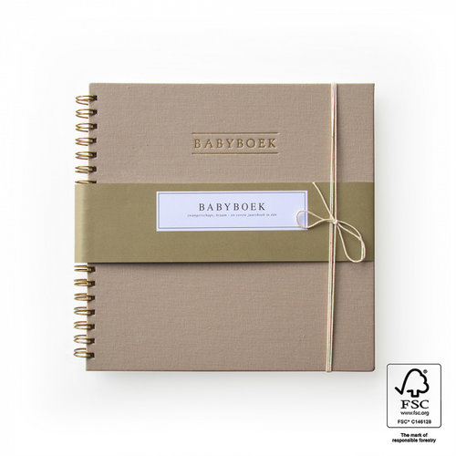 House of Products Babyboek - Linnen Taupe