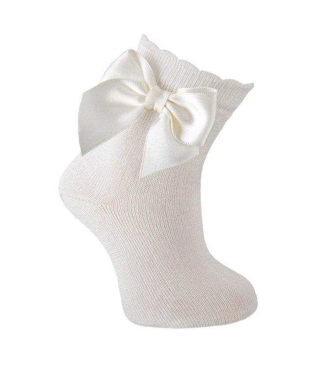 CARLOMAGNO Enkelsok - Wit met strik