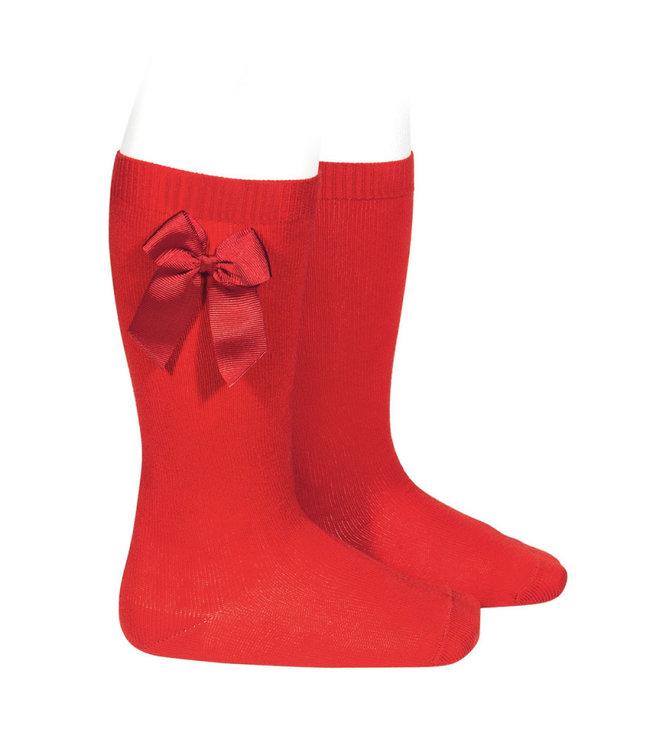 CONDOR Kniekousen - Rood met strik