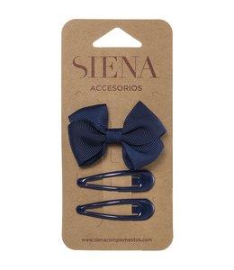 SIENA Set -  Strik met 2 speldjes donkerblauw