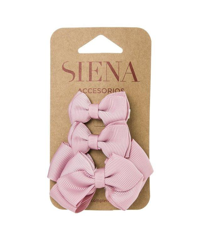 SIENA Set - 1 grote strik en 2 kleine strikjes roze