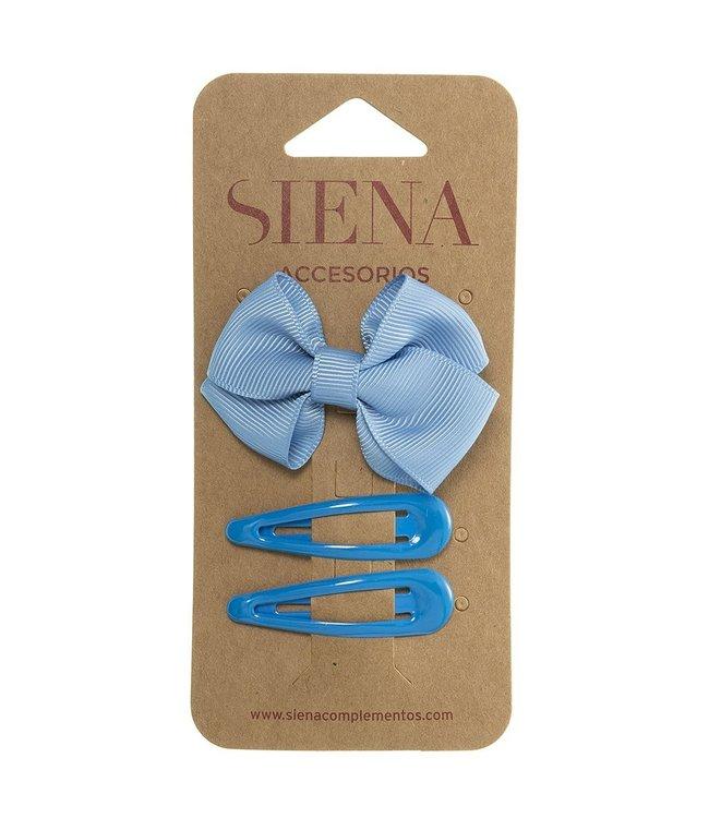 SIENA Set -  Strik met 2 speldjes Blauw