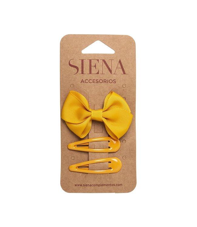 SIENA Set -  Strik met 2 speldjes Mosterd