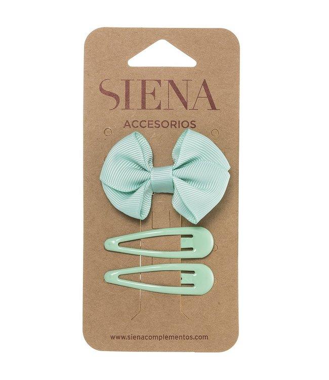 SIENA Set -  Strik met 2 speldjes pastel groen