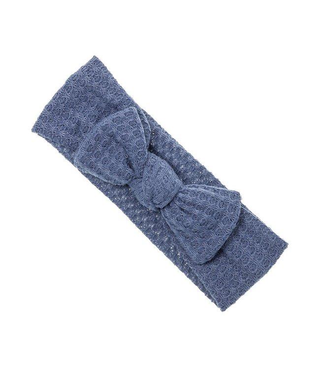 SIENA Haarband met strik in wafelstof blauw