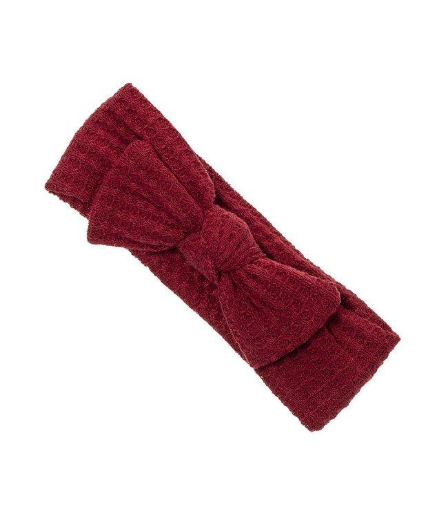 SIENA Haarband met strik in wafelstof rood