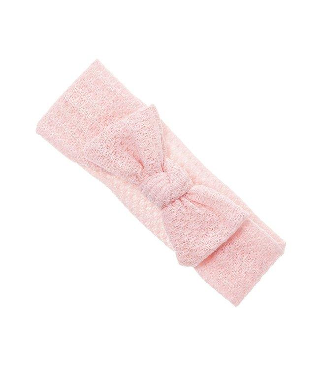 SIENA Haarband met strik in wafelstof roze