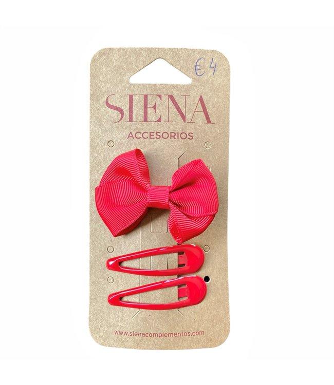 SIENA Set -  Strik met 2 speldjes rood