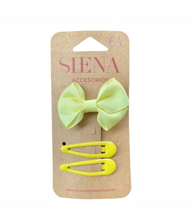 SIENA Set -  Strik met 2 speldjes geel