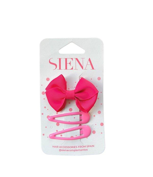 SIENA Set -  Strik met 2 speldjes fuchsia