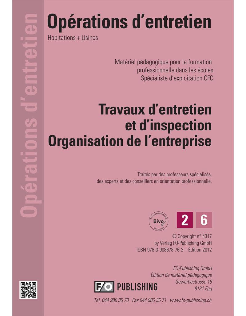 Entretien d'exploitation CFC Volume 2 - Organisation de l'entreprise
