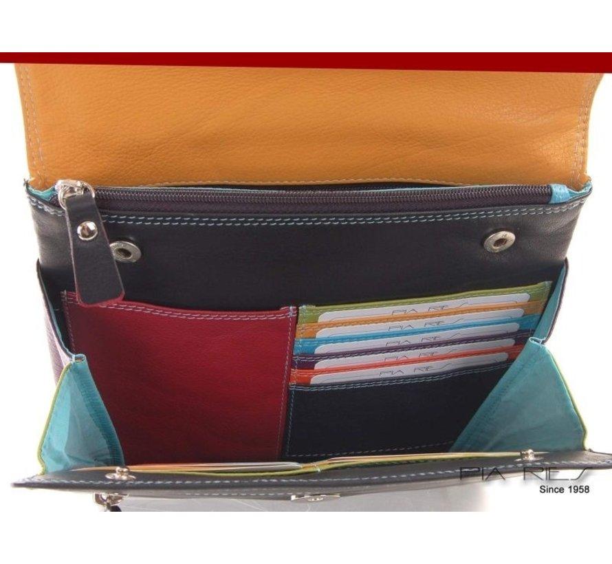 Pia Ries - Schoudertas/Crossbody 6001 Tropical Leer - Multicolor