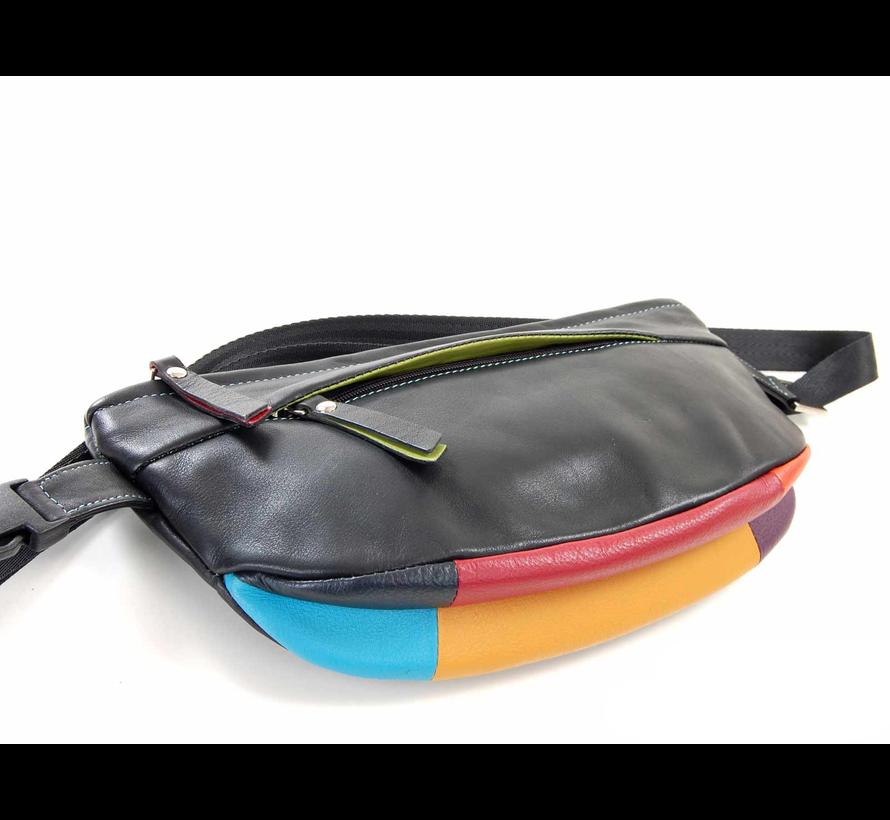 Pia Ries - Heuptas/Crossbody 6004 Tropical Leer - Multicolor