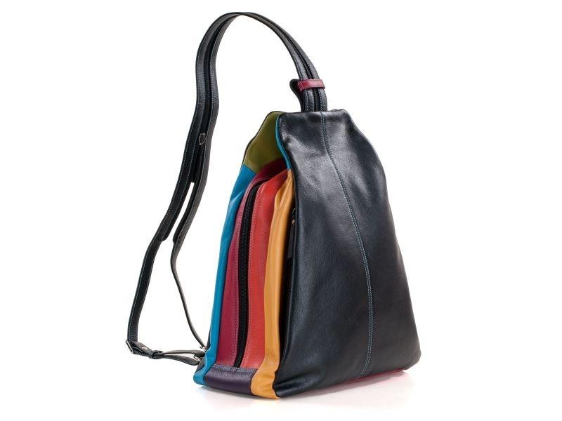Pia Ries - Rugtas Dames 6010 Tropical Leer - Multicolor