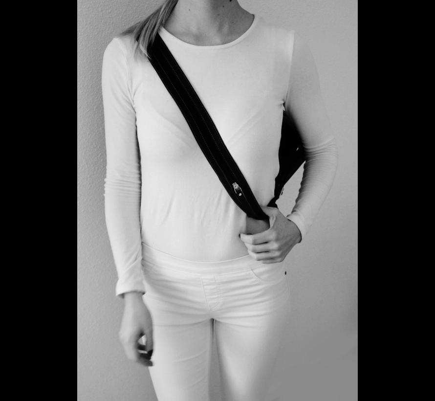 Pia Ries - Rugtas Dames 6010-1 Leer - Zwart