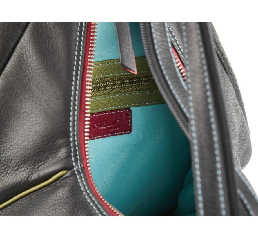 Pia Ries - Rugtas Dames 6020 Tropical Edge - Leer Multicolor