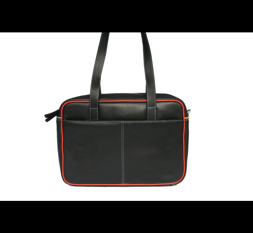 Pia Ries Leren laptoptas Dames - Tropical Edge 6021