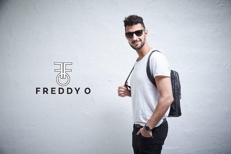 Freddy O - Thor Rugtas  Zwart - Leer