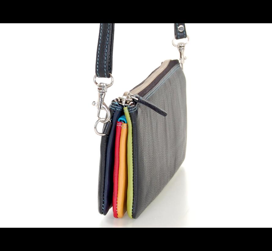 Pia Ries - Schoudertas/Handtas 550 Tropical Leer - Multicolor