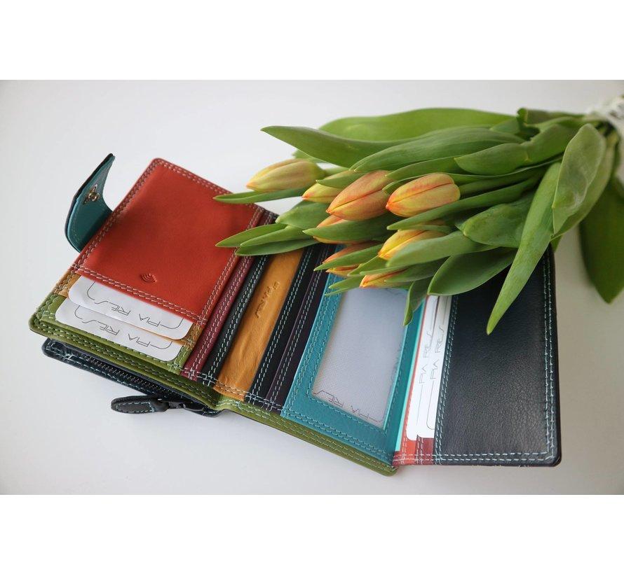 Pia Ries - Ritsportemonnee 826 Tropical Leer - Multicolor