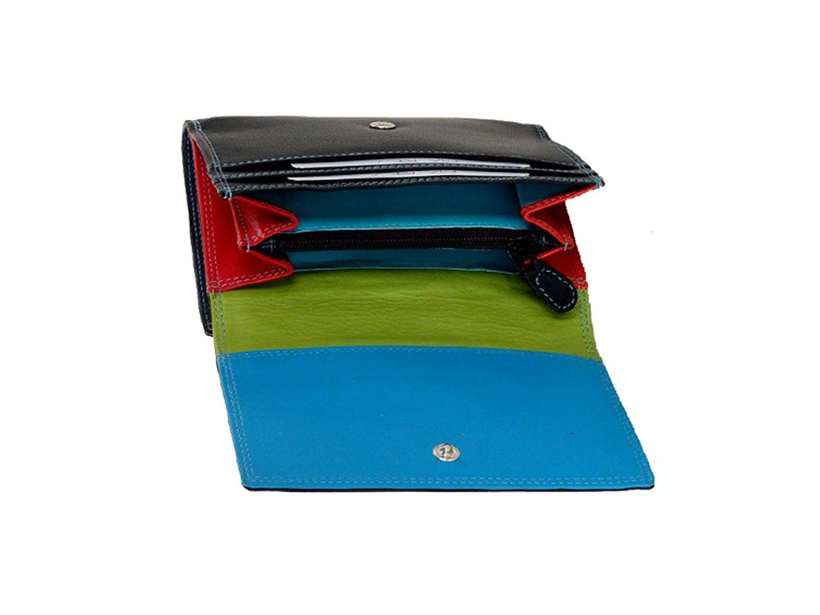Pia Ries - Overslagportemonnee 828 Tropical Leer - Multicolor