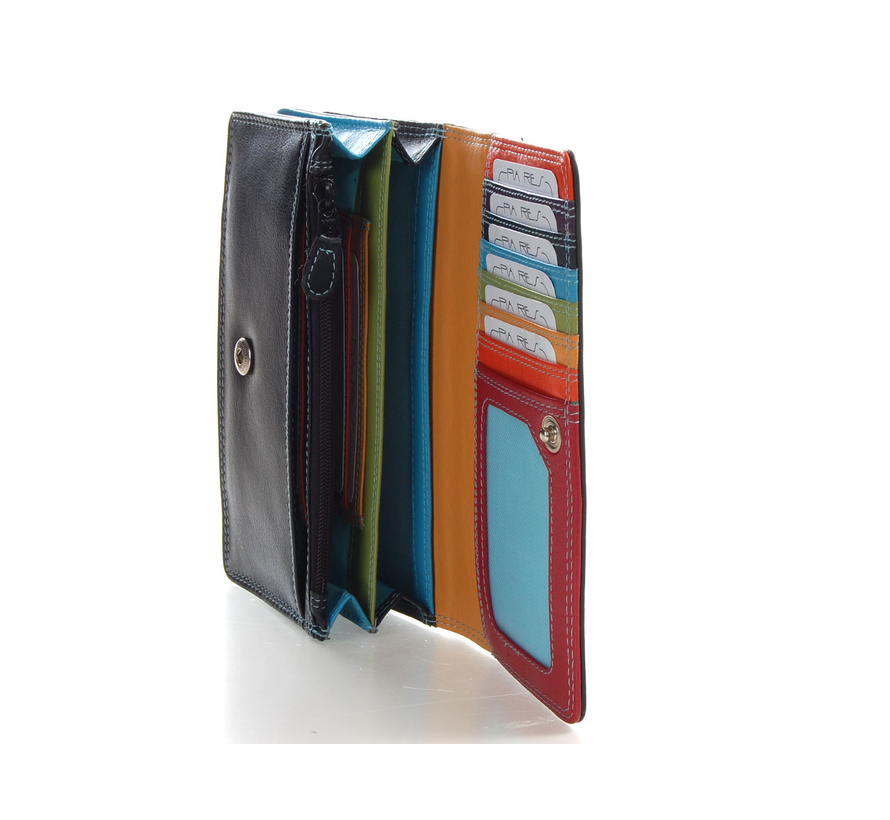 Pia Ries - Overslagportemonnee 829 Tropical Leer - Multicolor