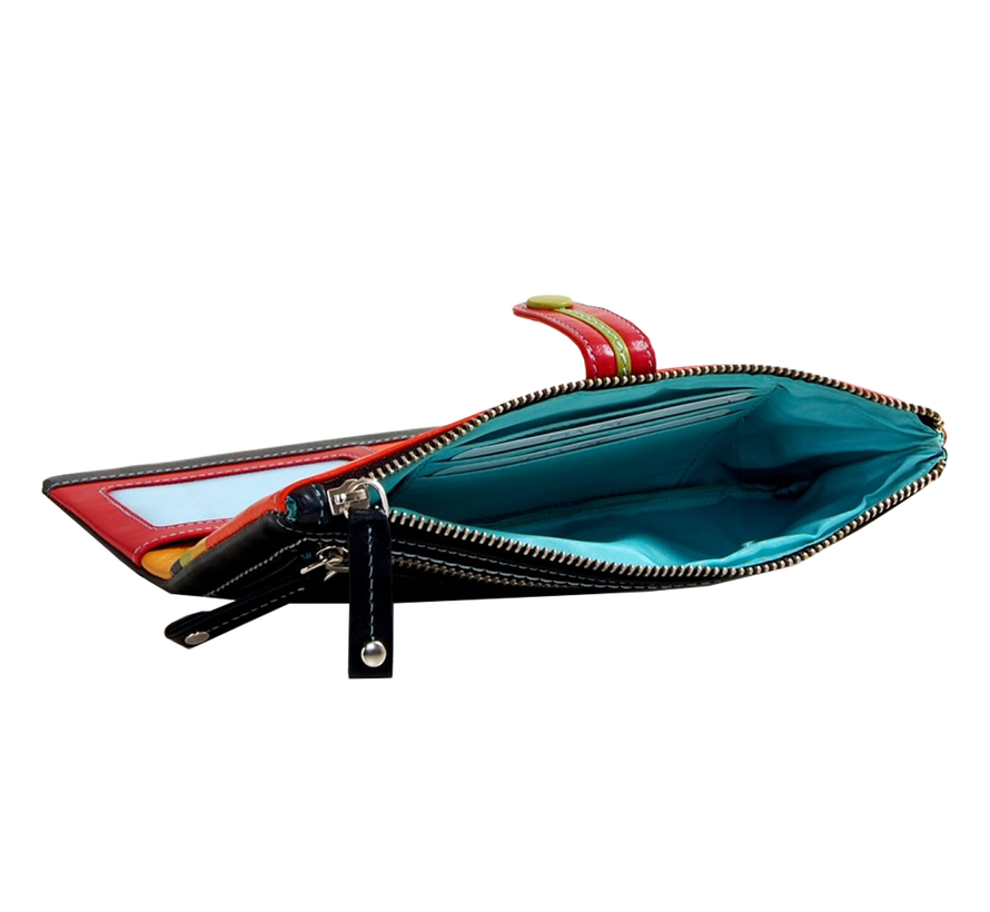 Pia Ries - Overslagportemonnee 844 Tropical Leer - Multicolor