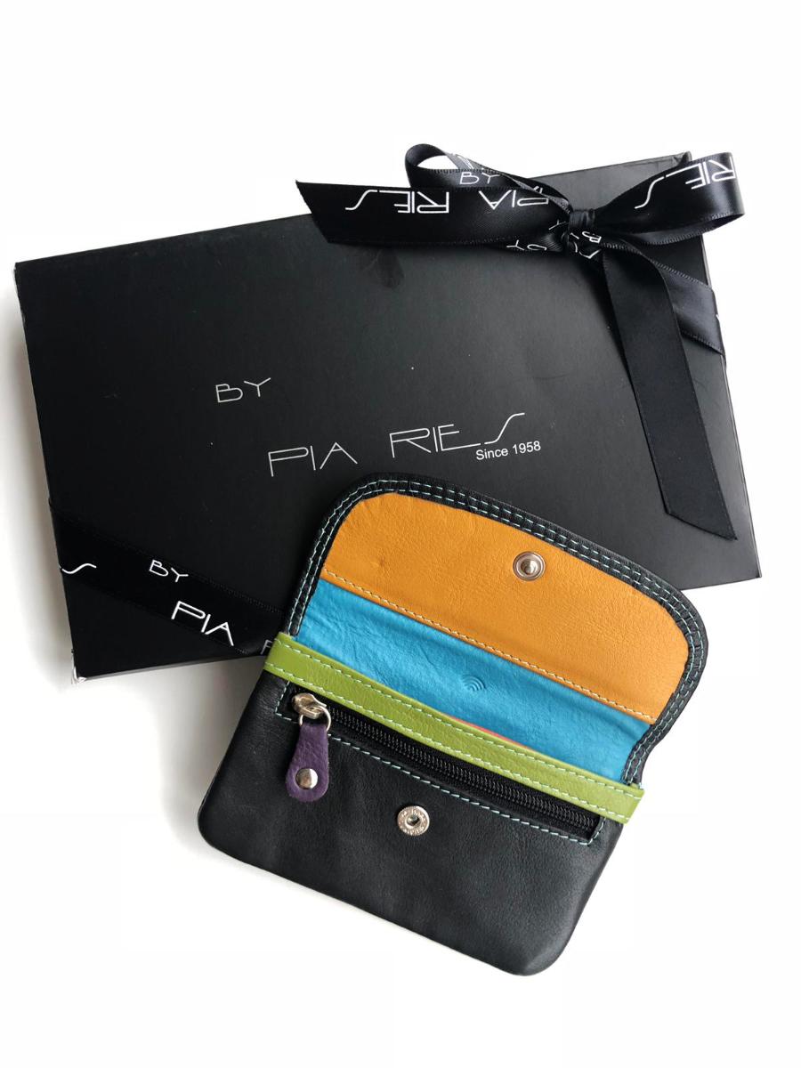 Pia Ries - Kleine Portemonnee 460 Tropical Leer - Multicolor