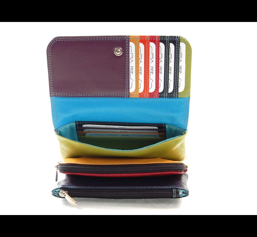 Pia Ries - Overslagportemonnee 533 Tropical Leer - Multicolor