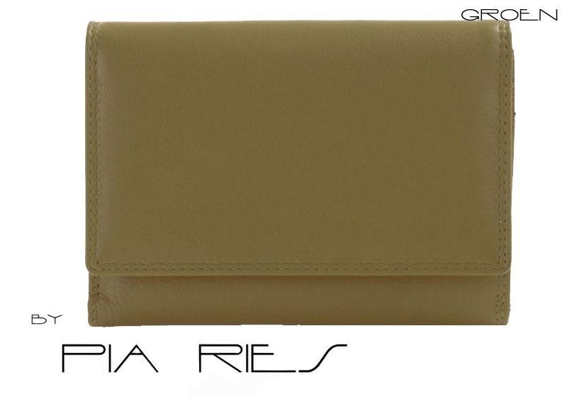 Pia Ries - Overslagportemonnee 828-9 Leer - Groen