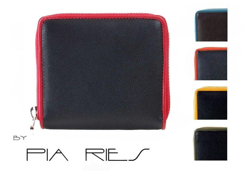 Pia Ries - Ritsportemonnee 861-9 Colored Edge Leer - Groen