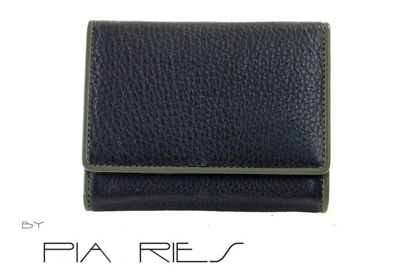 Pia Ries - Overslagportemonnee 862-9 Colored Edge Leer - Groen