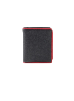 Pia Ries Pia Ries - Billfold 863-5 Colored Edge Leer - Rood