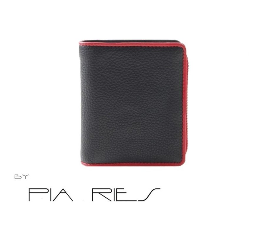Pia Ries - Billfold 863-5 Colored Edge Leer - Rood