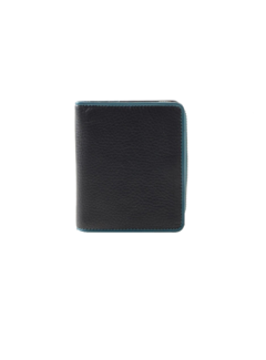Pia Ries Pia Ries - Billfold 863-6 Colored Edge Leer - Petrol