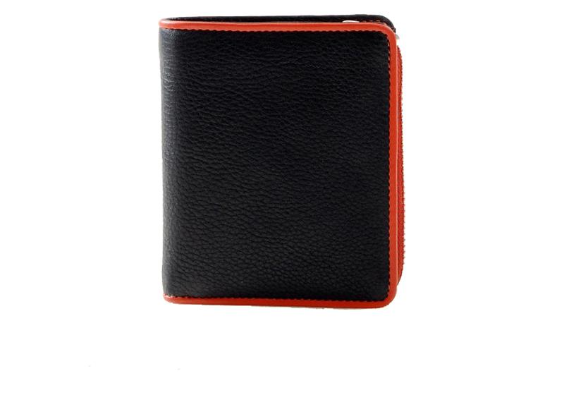 Pia Ries - Billfold 863-7 Colored Edge Leer - Oranje