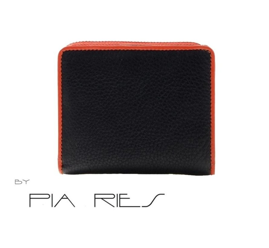 Pia Ries - Billfold 863-7 Colored Edge Leer - Oranje