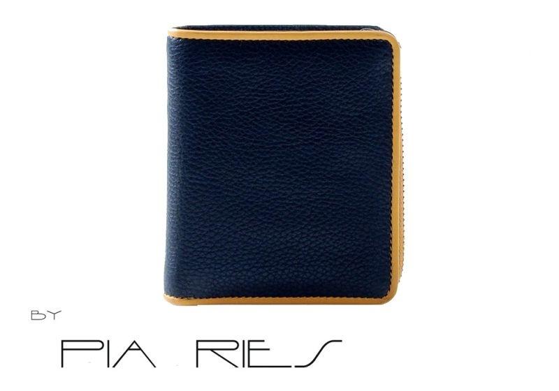 Pia Ries - Billfold 863-8 Colored Edge Leer - Geel