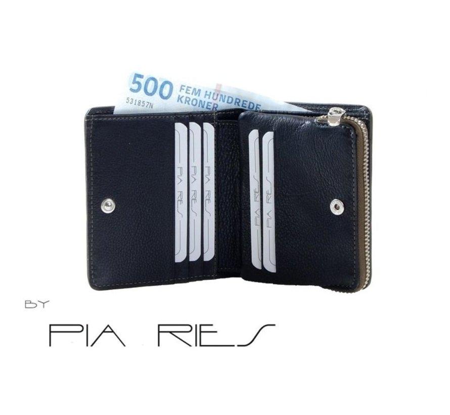 Pia Ries - Billfold 863-9 Colored Edge Leer - Groen