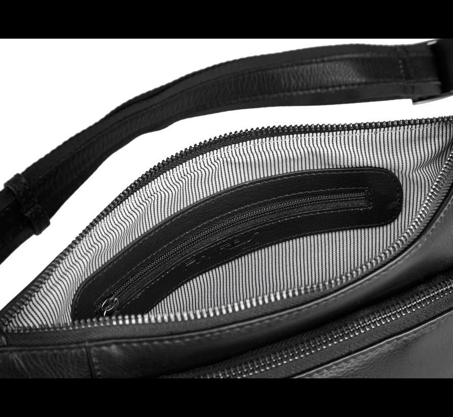Pia Ries - Heuptas / crossbody - Extra zacht leer Zwart