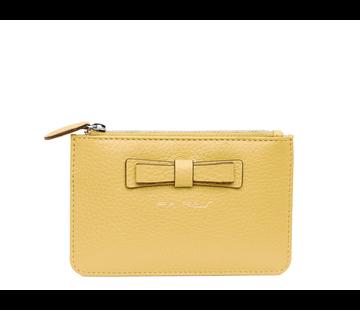 Pia Ries Kleine portemonnee voor munten, kaarten en een sleutel - Pastel Geel