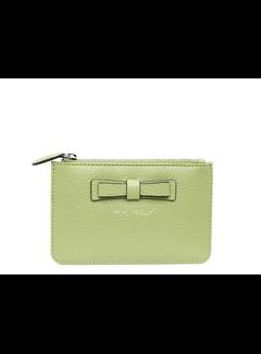 Pia Ries Kleine portemonnee voor munten, kaarten en een sleutel - Pastel Groen