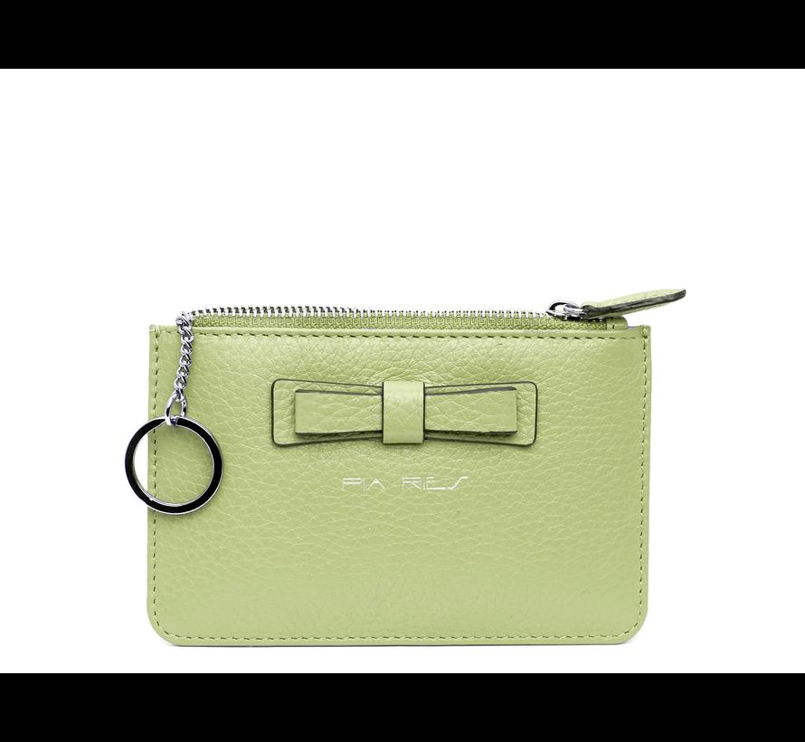 Kleine portemonnee voor munten, kaarten en een sleutel - Pastel Groen