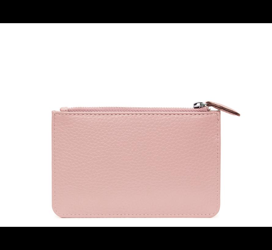 Kleine portemonnee voor munten, kaarten en een sleutel - Pastel Roze