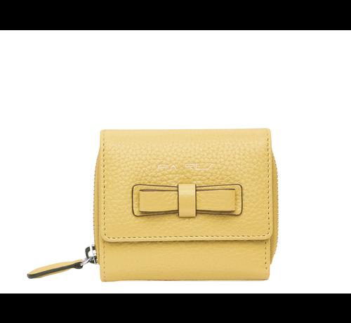 Pia Ries Compacte maar ruime portemonnee - Pastel Geel