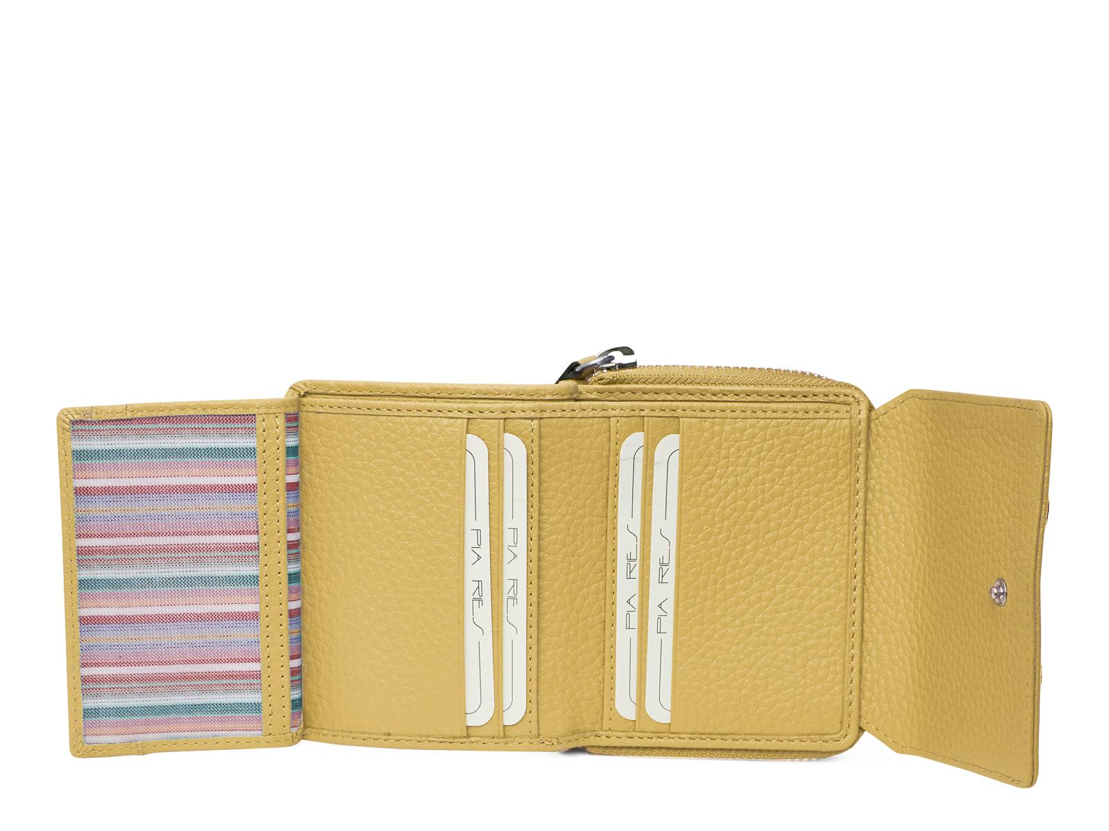 Compacte maar ruime portemonnee - Pastel Geel